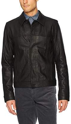 Vince Men's Leather Trucker Jacket