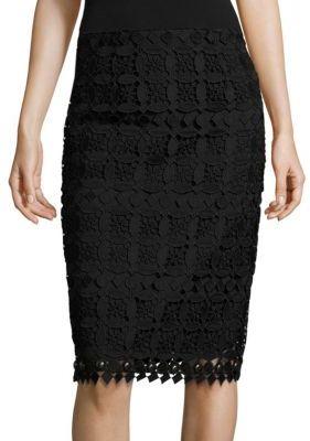 Nanette Lepore Limoncello Lace Pencil Skirt $348 thestylecure.com