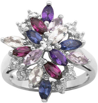 JCPenney FINE JEWELRY Multicolor Gemstone Cluster Ring