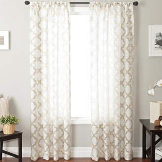 JCPenney SOFTLINE HOME FASHIONS Princeton Rod-Pocket Sheer Panel