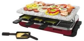 Swissmar 8 Person Red Classic Raclette Party Grill with Granite Stone KF-77045