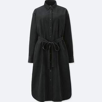 Uniqlo Women's Corduroy Long-sleeve Dress