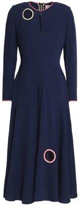 Roksanda Pleated Cutout Silk-Crepe Midi Dress