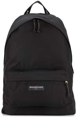 Balenciaga nylon logo backpack