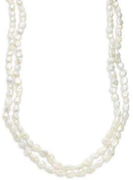 11MM White Freshwater Pearl Endless Multi-Strand Necklace
