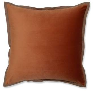 "Pillow Perfect 18""x18"" Velvet Flange Throw Pillow"
