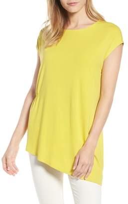 Eileen Fisher Asymmetrical Stretch Jersey Top