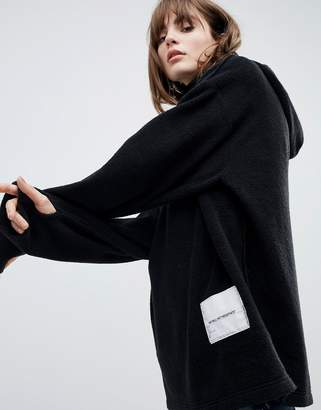 Cheap Monday fleece hoodie with patch logo
