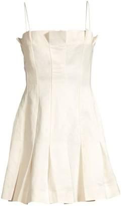 AMUR Joy Linen-Blend Slip Dress