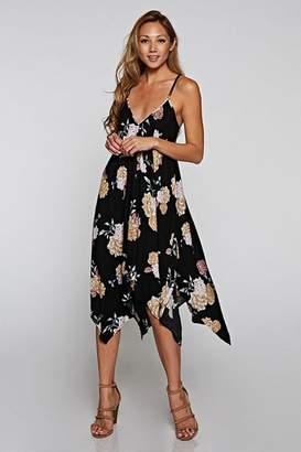 Love Stitch Printed Handkerchief Dress