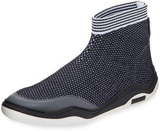 Lanvin Men's Mesh Knit Trainer Sneakers