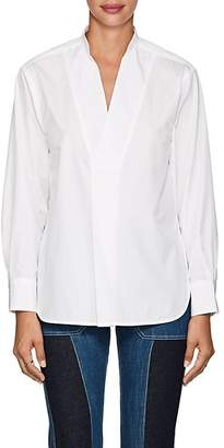 TOMORROWLAND Women's Cotton Poplin V-Neck Blouse