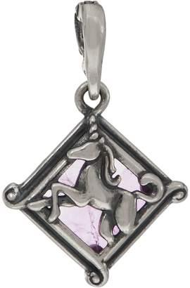 Carolyn Pollack Sterling Silver Unicorn and Amethyst Charm