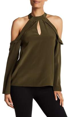 Ramy Brook Martie Cold Shoulder Silk Blouse