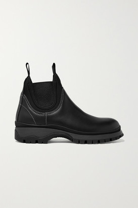 Prada Leather And Neoprene Ankle Boots - Black