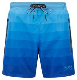 BOSS Hugo Quick-dry swim shorts degrade print & zippered pockets M Open Blue