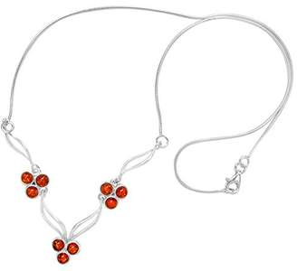 Goldmajor Elegant Sterling Silver Floral Necklace of Length 44.5cm