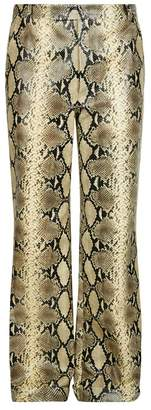 Gucci Python Print Leather Trousers
