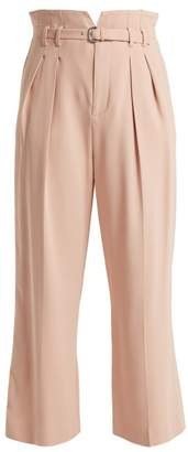 RED Valentino High Rise Notched Waist Trousers - Womens - Nude