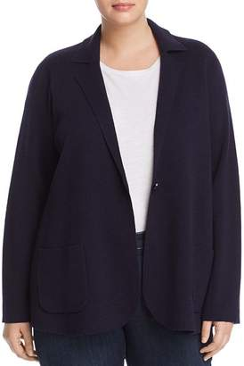 Eileen Fisher Plus Wool Knit Blazer