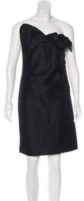 Lanvin Wool-Blend Strapless Dress w/ Tags