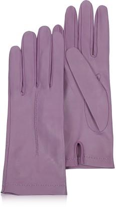 Forzieri Women's Purple Unlined Italian Leather Gloves