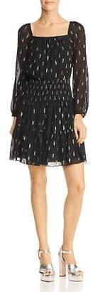 Rebecca Taylor Metallic Clip Dot Dress