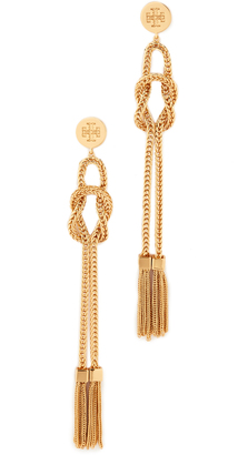 Tory Burch Chain Tassel Linear Earrings