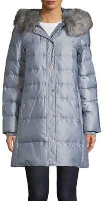 Kate Spade Quilted Faux-Fur Hooded Jacket