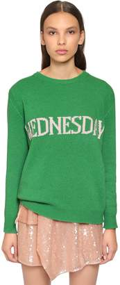 Alberta Ferretti Oversized Wednesday Wool Blend Sweater
