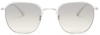 The Row X Oliver Peoples Brownstone 2 Metal Sunglasses - Womens - Silver
