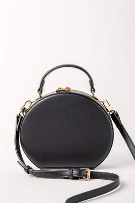 Isa Crossbody Structured Hat Box Handbag - Black