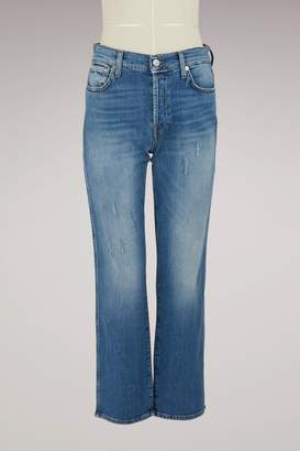 7 For All Mankind Edie Daydream high-waisted straight cut cropped jeans