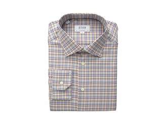 Eton Contemporary Fit Textured Twill Button Down Shirt