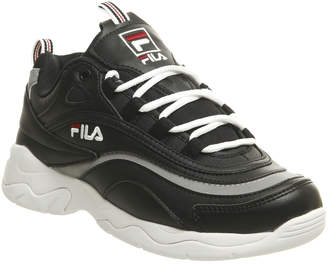 Fila Ray Trainers Black Red Metallic Silver