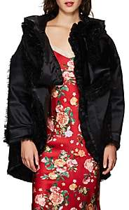 Comme des Garcons Women's Satin & Tulle Evening Coat - Black