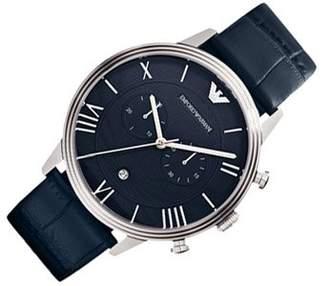 Emporio Armani Men's Quartz Watch AR1652 with Leather Strap