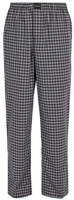 Balenciaga Checked Cotton Trousers - Mens - Grey