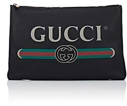 Gucci Men's Large Leather Pouch - Black