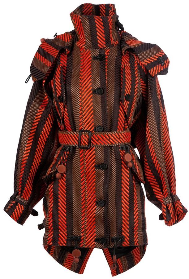 Burberry woven coat