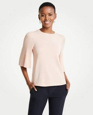 Ann Taylor Petite Pleated Sleeve Sweater