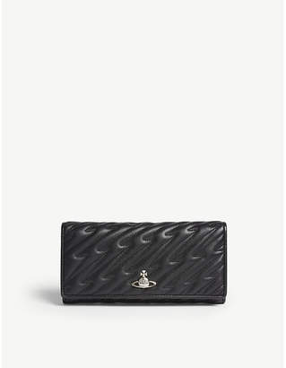 Vivienne Westwood Coventry long quilted leather wallet
