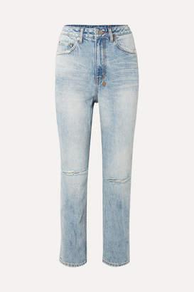 Ksubi Chlo Wasted Distressed High-rise Straight-leg Jeans - Light denim