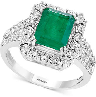 Effy Brasilica by Emerald (2-1/5 ct. t.w.) & Diamond (1/2 ct. t.w.) Ring in 14k White Gold