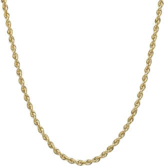 JCPenney FINE JEWELRY Infinite Gold 14K Yellow Gold 16 or 36 Hollow Glitter Rope Chain
