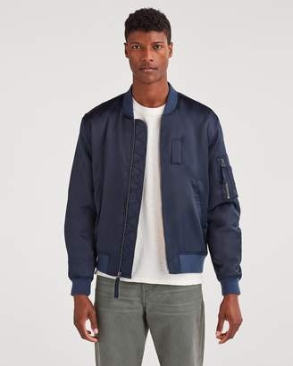 7 For All Mankind Class-A Bomber Jacket in Midnight Navy