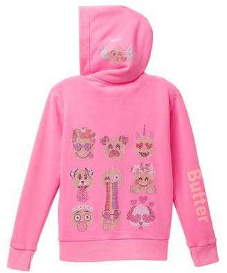 Butter Shoes Super Soft Mineral Wash Fleece Hoodie (Little Girls)