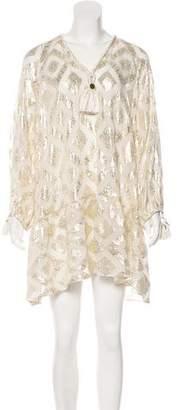 Rachel Zoe Silk Long Sleeve Mini Dress