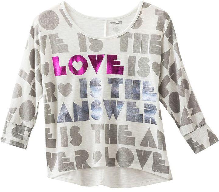 "Hang ten ""love is the answer"" tee - girls 4-6x"