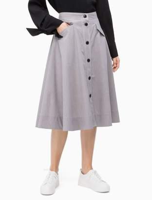 c50f60bba4db Calvin Klein Gingham Check Button Skirt